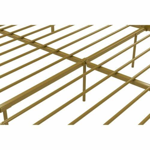 Twin Full Queen King Gold Metal Canopy Platform Bed Frame Headboard Footboard
