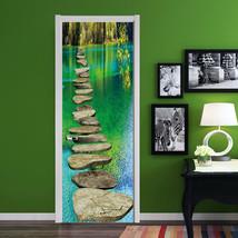 3D Stein, Fluss Door Wall Mural Photo Wall Sticker Decal Wall Aj Wallpaper De - $73.11+