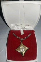 Vintage Belair 17 Jewels  Mechanical Wind Up Necklace Pendant Watch w/ b... - $64.35