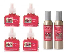 6 Piece Yankee Candle Red Raspberry Room Spray & Scentplug Refill Bulbs - $36.50