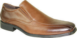 BRAVO Men Dress Shoe MILANO-7 Classic Loafer with Double Runner Square T... - $39.95