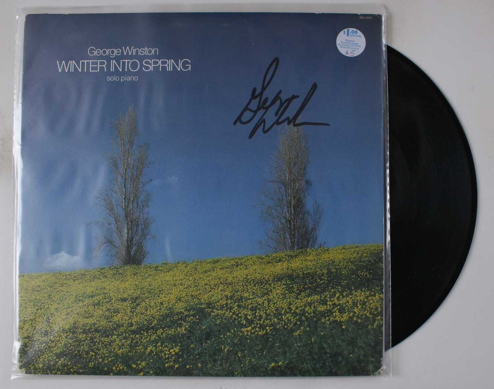 "Primary image for George Winston Signed Autographed ""Winter Into Spring"" Record Album"