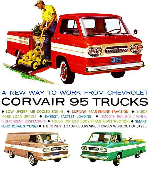 Primary image for 1961 Chevrolet Corvair 95 Trucks - Promotional Advertising Poster