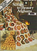 "Leisure Arts ""Crocheted Scraps to Beauty Afghans"" Gently Used - $3.50"