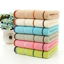 Cotton Towel Stripe Face Hand Bath Cloth Bathroom Absorbent Home Kitchen... - $4.99