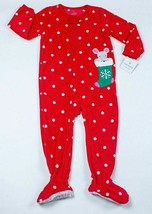 Carters Holiday Mouse Nwt Girls 3T Fleece Footed Blanket Sleeper Pajamas Pj's - $12.17
