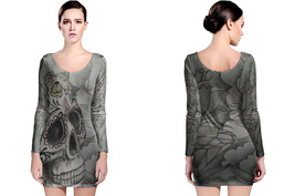 Day of Dead Women's Long Sleeve Bodycon Dress - $25.80+