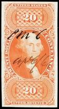 R98a, Superb $20 Conveyance Revenue Stamp Cat $175.00 - Stuart Katz - $150.00