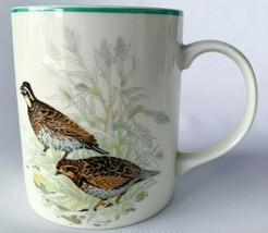 Vintage Quail Ceramic Stoneware Coffee Mug Quail Pair Bird man cave Woodland - $20.00