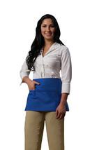3 Pocket Waist Apron Cobalt Waiter Waitress Bar Staff Craft Made in USA New - $11.61