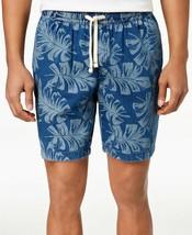 """Tommy Hilfiger Men's Leaf Print 9"""" Shorts, Size S, MSRP $65 - $34.64"""