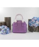 Kate Spade Sylvia Candied Lily Purple Glitter Mini Dome Satchel Bag NWT - $172.76