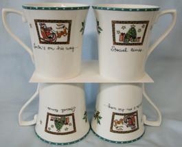 Mikasa HK713 Christmas Wish Cappuccino Mug set of 4 - $40.48