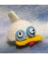 DOLLHOUSE Duck Fun Hat By Barb White Yellow Bill Googly Eyes Miniature #1 - $12.35