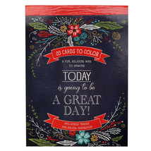 20 Cards To Color NEW Today Is Going To Be A Great Day Anti-Stress Therapy - $9.36