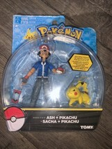 Pokemon ASH and PIKACHU Action Figure Tomy - $50.00