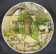 Royal Albert Keeping Watch Collector Plate Cats and Cottages Richard Par... - $19.95