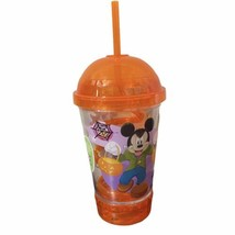 Disney Mickey Mouse Flashing Light Up Halloween Dometop Cup Crazy Straw New - $14.84