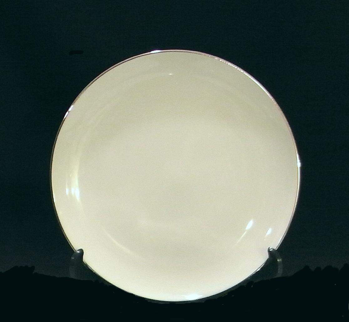 ... Sango China Silver Snow Salad Plates White with Platinum Trim ... & Sango China Silver Snow Salad Plates White and 50 similar items