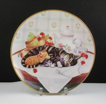 Cat Nap by Turi MacCombie Franklin Mint 1991 Cat Collector Plate - $9.90