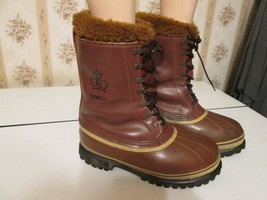 Vintage Mens Sorel Dominator Winter Snow Boots leather boots Kaufman Can... - $60.00