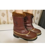 Vintage Mens Sorel Dominator Winter Snow Boots leather boots Kaufman Canada Sz 8 - $60.00