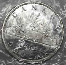 CANADA 1963  $1 DOLLAR  ELIZABETH II  SILVER COIN  UNC PL # DBW - $17.77