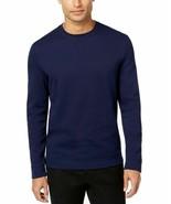 Tasso Elba Mens Pullover Knit Crewneck Sweater, Dark Navy, Large - $19.79
