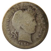 1904S Liberty Barber Head 10¢ Dime Silver Coin Lot# MZ 3713
