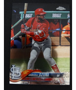 2018 Topps Chrome #149 Marcell Ozuna St Louis Cardinals Baseball Card - $0.99