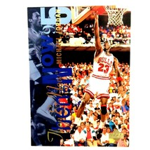 Michael Jordan 1995-96 Upper Deck Then & Now #359 NBA HOF Chicago Bulls - $2.92