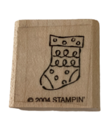 "Stampin Up Rubber Stamp Tiny Stocking Christmas Card Making Holidays Craft 1"" - $2.99"