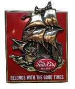 Vintage 1970's 3D Falls City Beer Sailing Ship Good Times Red Plastic Ba... - $97.90