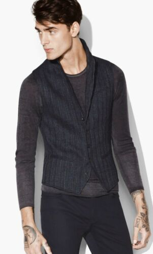 Primary image for John Varvatos Collection Varvatos Faded Chalk Stripe Vest. Size EU 50. USA 40