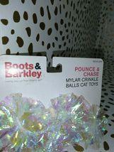 Boots & Barkley  Pounce & Chase Mylar Crinkle Balls Cat Toys  store --NEW! image 3
