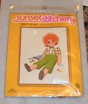"Carrot Top Boy Sunset Stitchery Crewel Kit 14"" x 18"" Unopened - $21.49"