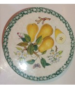Vintage Himark Pear Cake Platter Stand 13 Inches Italy Pottery - $28.71