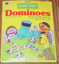 Dominoes Sesame Street Jim Hensons Muppets Dominoes Game 1980 Whitman Western Pu - $15.00