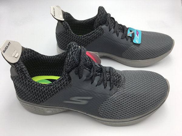 NEW Skechers Womens 5.5 Gray Go Walk 4 Sustain Goga Max Shoes 14916