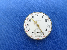 WALTHAM PENDANT OR TRENCH 1904 WATCH ANTIQUE MOVEMENT FOR REPAIR PARTS - $116.10
