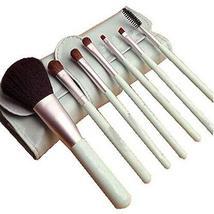7Pcs Foundation Powder Concealers Eye Shadows Makeup Brush Sets(Lake Blue)