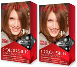 Revlon Colorsilk 51 Light Brown [PACK OF 2] NEW - $13.99