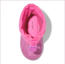 Cat & Jack Toddler Girls' Zera Toggle Pink Waterproof Insulated Winter Boots 5-6 image 3