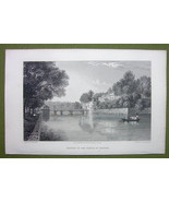 GERMANY Prince of Waldeck Castle Pyrmont - 1820s Copper Engraving Cpt BATTY - $13.77