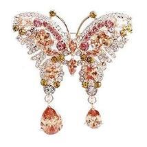 Female Crystal Butterfly Brooch Rhinestones Brooch Retro Fashion Brooch