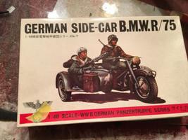 Bandai 1/48 Scale BMW R75 Motorcycle & Side Car German Figures  New Kit #2 - $22.28