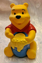"4"" Disney Winnie the Pooh Squeak Toy with Honey Pot image 1"
