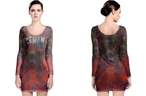 Ant man long sleeve bodycon dress