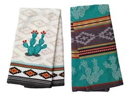 Simply Southwest Cactus Kitchen Towel Set, Decorative Cactus Terry Towel... - $19.42