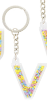 Disney Parks Mickey Mouse Bead Letter V Initial Keychain NEW - $15.90